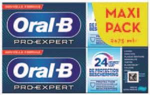 Lot de 2 dentifrices Oral B Pro Expert (2x75ml)