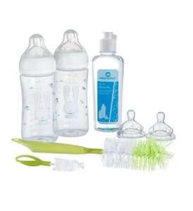 Kit Naissance Bébé Confort - 2 biberons 270ml, 1 goupillon 2 en1, 1 liquide vaisselle