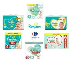 MegaPack de Couches et Couches-Culotte Pampers - Tailles au choix (via 15,94€ sur la Carte de Fidélité + BDR)