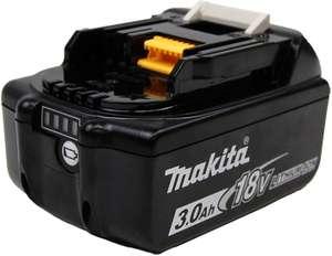 Batterie pour outils électriques Makita BL1830B (18 V) - 3.0 Ah, avec indicateur de charge