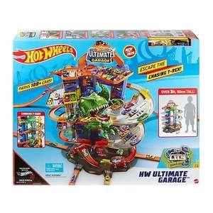 Jouet Hot Wheels City Super Dino Robot Garage avec T-Rex (Via 15€ sur la carte fidélité)