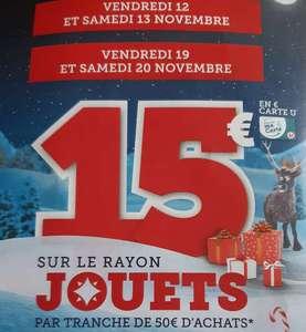 15€ remboursé par tranche de 50€ sur une sélection de jouets de Noël dans les Super U (Sous Conditions)