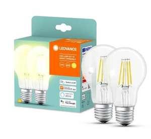 Lot de 2 ampoules connectées Ledvance E27 - 6W, Bluetooth (Compatible Alexa, Google Home)