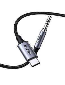 Câble USB-C vers Jack (3,5mm) UGreen (1m) - 24 bits/96 kHz, Thunderbolt 3, Compatible smartphones et tablettes (Vendeur tiers)