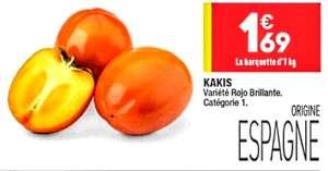 Barquette de kakis Rojo Brillante - cat.1, origine Espagne, 1 kg