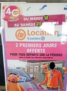 2 jours de location d'une voiture ou d'un utilitaire offerts - Limoges (87)