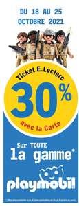 [Carte Fidélité] 30% offerts en bon d'achat sur les Playmobil (Saint-Amand-les-Eaux 59)
