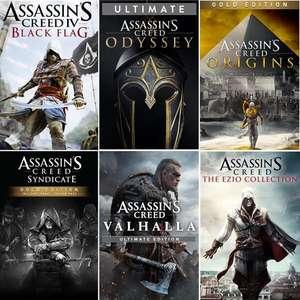 Sélection de jeux vidéo Assassin's Creed sur Xbox en promotion (dématérialisés, store BR) - Ex : Assassin's Creed Origins - Édition Gold