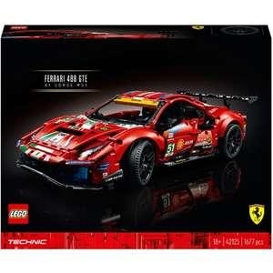 """Sélection de Lego en promotion - Ex: Jeu de construction Lego Technic 42125 - Ferrari 488 GTE """"AF Corse #51"""" (Via 38.75€ sur Carte Fidélité)"""