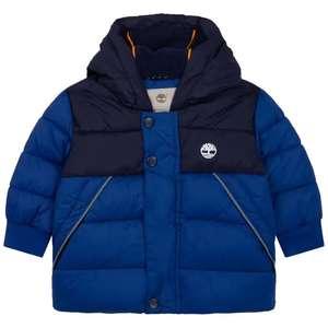 Doudoune à capuche Timberland pour Enfant - Bleu roi (Taille 3 Mois à 18 Mois)