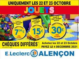 Jusqu'à 30€ de remise fidélité dès 150€ d'achat sur les jouets - Alencon (61)