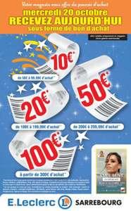 Bons d'achats de 10€ à 100€ dès 50€ d'achat - E.Leclerc Sarrebourg (57)