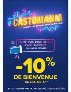 Coupon de 10% de réduction à valoir sur tout le magasin pour l'ouverture d'une carte de fidélité (hors exceptions)