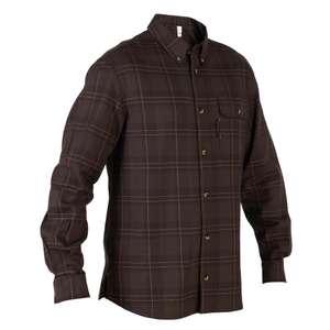 Chemise à manches longues Solognac Chasse 500 - coloris café (du S au 3XL)