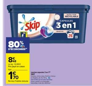 Boite de 26 capsules de lessive Skip 3 en 1 - Diverses variétés (via 6.78€ sur la carte de fidélité)