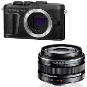 Appareil photo compact Olympus PEN E-PL10 + Objectif M.Zuiko Digital 17mm F1.8