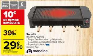 Appareil à Raclette Mandine (MRGP2008-16) - 2000w, Plaque 2 en 1 amovible (gril et plancha), pour 8 personnes