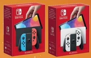 Console Nintendo Switch (OLED) avec station d'accueil et manettes Joy-Con - Blanche ou Néon (via 25€ sur la carte fidélité)