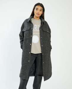 Sélection d'articles en promotion - Ex : veste surchemise longue Oversize - gris (du XS au XL)