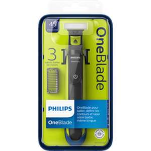 Rasoir Philips OneBlade avec 3 Sabots Clipsables (Via 20,93€ sur Carte de Fidélité)