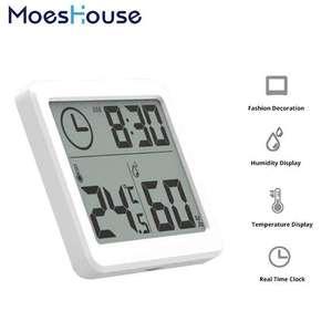 """Sélection de produits en promotion -Ex : Thermomètre et Hygromètre multifonctions - Ecran 3.2"""" avec affichage Heure, Température et Humidité"""