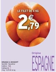 Filet de 4 kg d'orange à dessert Naveline - cat.1, origine Espagne