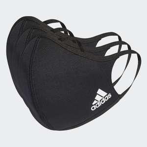 Lot de 3 masques Adidas - Noir, Taille M/L