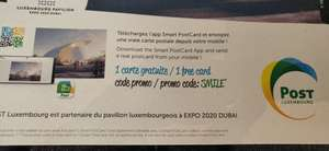 1 Carte postale gratuite avec l'application Smart Postcard (post.lu)