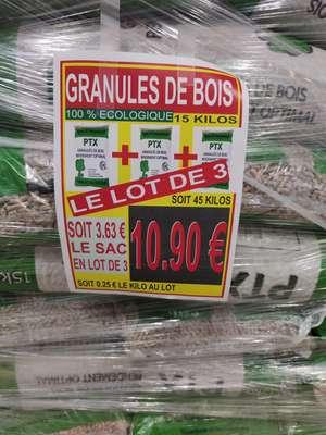 3 Sacs de Granulés PTF - 3x15Kg, Bonson (42)