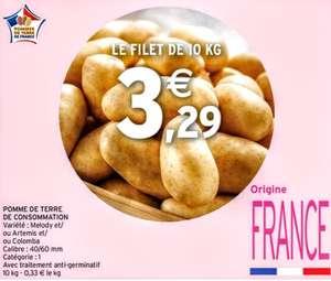 Filet de 10 kg de pommes de terre Melody, Artémis ou Colomba - Origine France, Catégorie 1