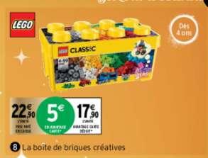 Jeu de construction Lego Classic Boîte de briques créatives n°10696 - 484 pièces (via 5€ sur la carte fidélité)