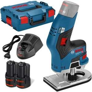 Coffret affleureuse Bosch GKF 12V-8 Professional (12 V) - avec 2 batteries 3.0 Ah + chargeur