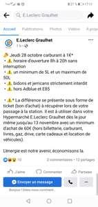 Carburant à 1€ (hors Adblue et E85) sous forme de bons d'achats à utiliser pour un minimum de 60€ d'achats en magasin - Graulhet (81)