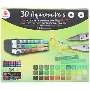 Boîte de 30 feutres Aquamarkers Decotime (différents modèles au choix)