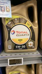 Bidon de 5L d'huile moteur Total Quartz 9000 NFC (5W30) - Chartres-Barjouville (28)