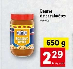 Pot de beurre de cacahuète - 650gr