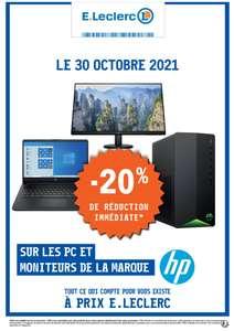20% de réduction sur tous les PC & moniteurs de la marque HP (Hors accessoires) - Saint Nicolas de Redon (44)
