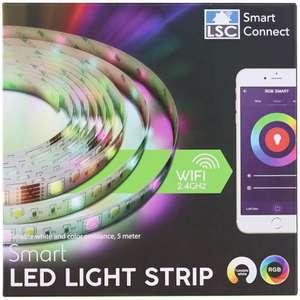 Ruban Led Connecté Lsc Smart Connect - 5m avec Télécommande, Blanc et Multicolore