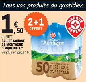 Lot de 3 packs de 6 bouteilles d'1.5L d'Eau de Source de Montagne Laqueille - 18x1.5L (Magasins Participants)