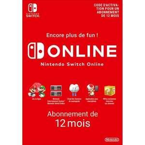 Abonnement de 12 mois au Nintendo Switch Online 12 mois (dématérialisé)