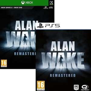 Jeu Alan Wake Remastered sur PS5 ou Xbox Series X