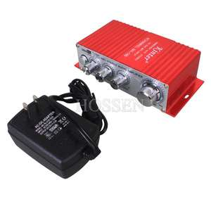 "Mini ampli ""T-amp"" 2x20W + adaptateur secteur"