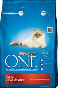 3 paquets de croquettes pour chats stérilisés Purina One (3 kg)