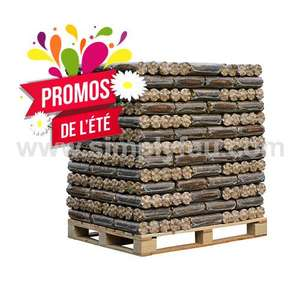 Palette de 104 Bûches bois compressé jour - 1004 Kg