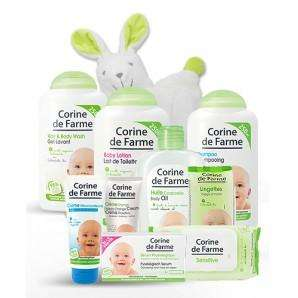 Lot de 10 produits soins et toilette pour Bébé + doudou Lapichou offert