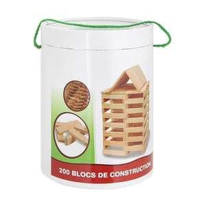 [Cdiscount à volonté] 200 Bûchettes de construction en bois naturel (équivalent Kapla)