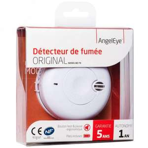 Détecteur de fumée photoélectrique NF AngelEye SO501-AE-FR à 1€ pour toute commande