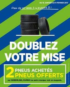2 pneus achetés = 2 pneus offerts