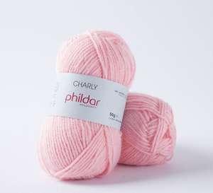 Sélection de pelotes de laine en promotion - Ex : Pelote de laine Phildar Charly - Rose