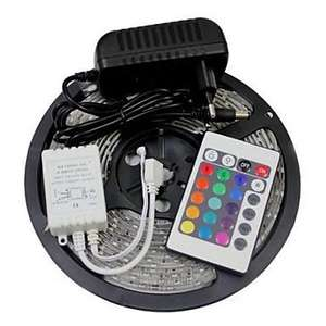 bande LED 3528 RGB avec télecommande et alimentation Eu - 5 m